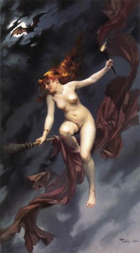 ©Luis Ricardo Falero, Le streghe al sabba, 1878