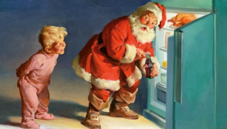 Babbo Natale E San Nicola.Babbo Natale Veste Coca Cola